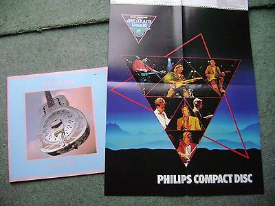 rare 1985, dire straits programme, ticket and poster... excellent