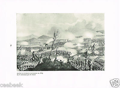 Battle Of Nivelle, November 10, 1813 Antique Military Picture Print
