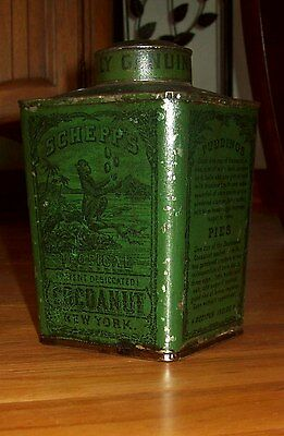 Rare!! Vintage Tin Schepp's Cocoanut - Tropical Monkey Antique Old Can Coconut