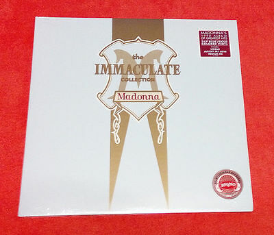Madonna IMMACULATE COLLECTION 2017 USA Limited 2LP Blue/Gold Colored Rhino Vinyl