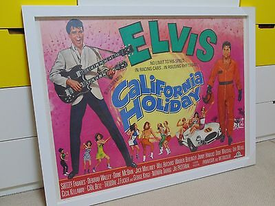 California Holiday Elvis Presley Original Cinema Uk Quad Poster 1966 Rare Rolled