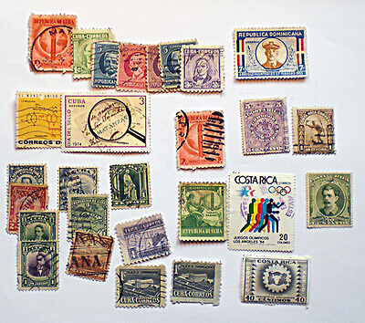 A quantity of largely pre 1940 Central American stamps