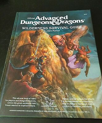 advanced dungeons and dragons, wilderness survival guide, tsr