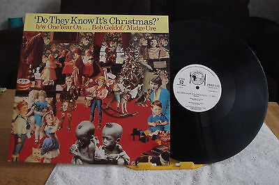 """BAND AID– Do They Know It's Christmas? –UK 12"""" SINGLE-NM-1985-"""