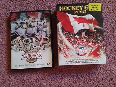 BRAND NEW 2002 and 2010 TEAM CANADA HOCKEY DVD