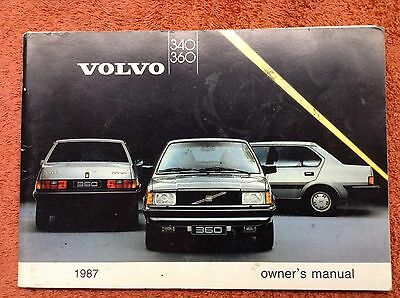 Volvo  340 & 360 Owner's manual 1987. Contains 108 pages