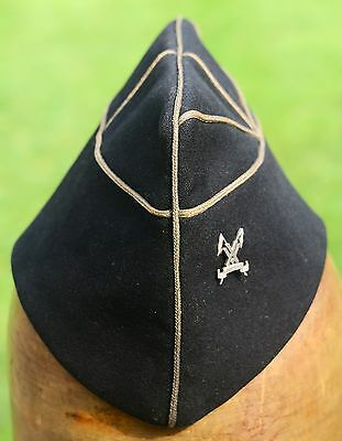 RARE 15th Lancers Officers Torin Cap with Hallmarked Silver Badge