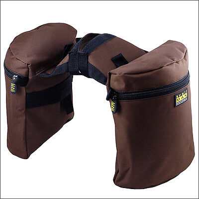 Outfitters Supply Horse Rider Trailmax Original Pommel Horn Saddle Bags Brown