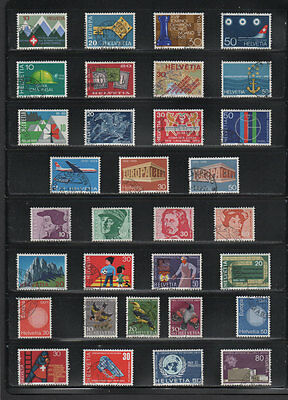 Switzerland, Stamps from Years 1968 - 1971