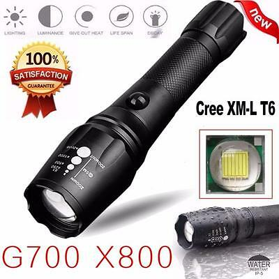 G700 X800 5000LM T6 LED Zoomable Flashlight Tactical Torches Lamp Super Light