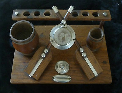 Victorian Boating / Rowing Wood Pipe Rack Or Alternatively Pen Holder Etc.
