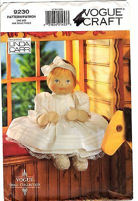 "Vogue BABY DOLL & CLOTHES Sewing Pattern 9230 by Linda Carr 15"" High CUT"
