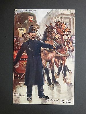"CITY POLICE The ""Arm of the Law"" The Bank Harry Payne Tuck's Oilette Postcard"