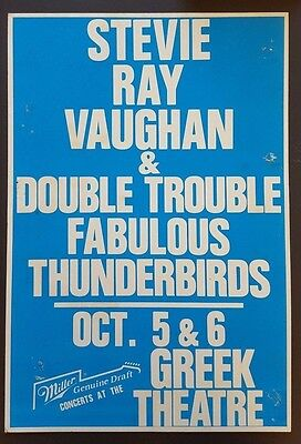 STEVIE RAY VAUGHAN Original Promo Concert Poster 1988 Lonnie Mack Jimi HENDRIX