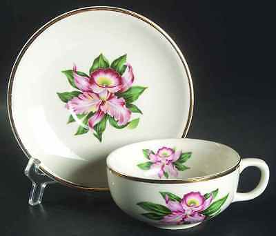 Paden City Pottery MODERN ORCHID Cup & Saucer 509502