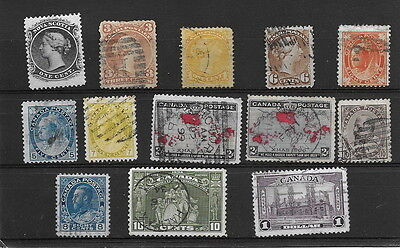 Canada. Range QV, KGV to $1.00. mm & used. (13)