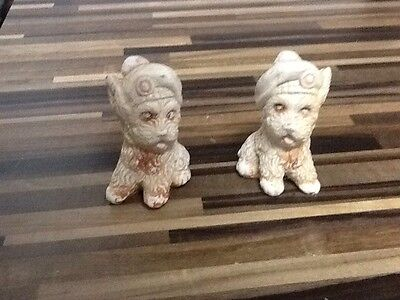 pair of small scotty dog Ornaments