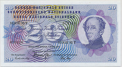 Switzerland 20 Francs 1973 - UNC