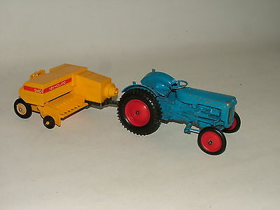 Britains & Crescent 1:32 Farm Tractor With New Holland Hay Baler Job Lot