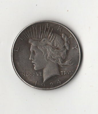 1924/1934 Two Face Peace Dollar Toned Two Headed Novelty Trick Coin