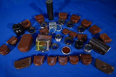 LOT of Rolleiflex Accessories, Hoods, Filters, Shades, etc #L077
