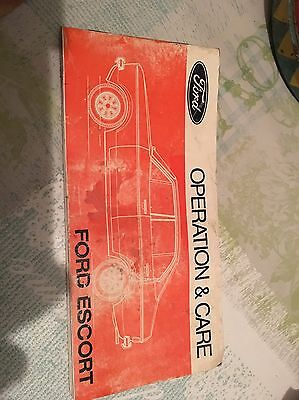Ford Escort Mk2 Operation And Care Manual