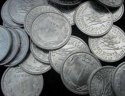 French West African Franc 1969 BU lot of 25 coins  #38