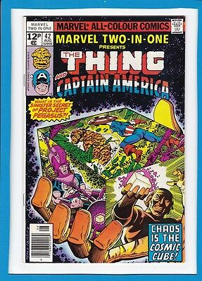 Marvel Two-In-One #42_Aug 1978_Nm Minus_The Thing_Captain America_Bronze Age Uk!