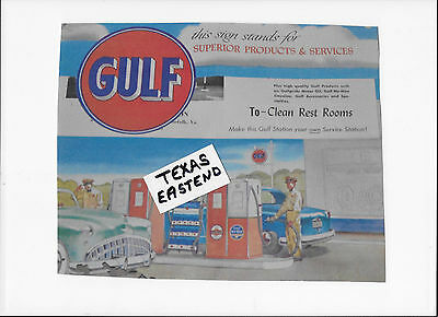 GULF OIL Color Poster Station