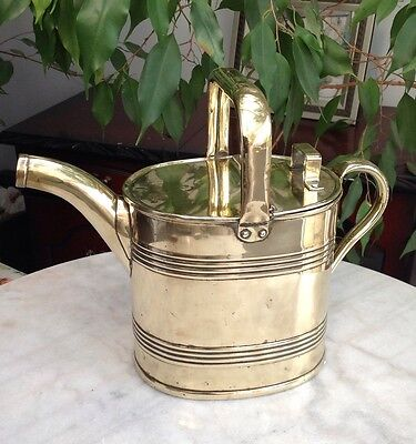 BRASS JS&SB SANKEY WATERING CAN 4 Pints Polished VG Edwardian England 1920s
