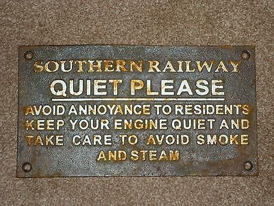 Old Cast Railway Sign