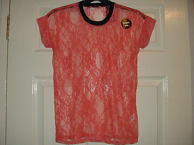 Girls Lovely Coral  Full Lace Top Age 12-13 Years Bnwt