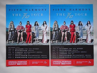 "FIFTH HARMONY.... Live ""The 7/27"" UK Arena Tour 2016. Promo tour flyers x 2"