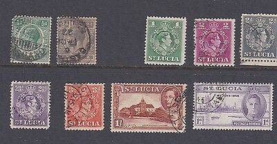 Stamps St Lucia early used
