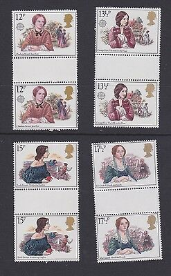 Stamps GB 1980 gutter pairs Authoresses