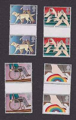 Stamps GB 1981 gutter pairs Disabled