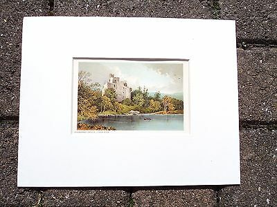 Victorian Nelson's Chromolithograph, 'invergarry Castle, Loch Oigh', Dated 1895.