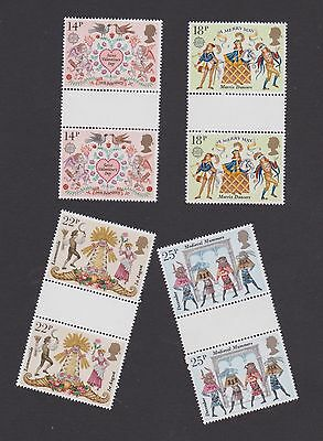 Stamps GB 1981 gutter pairs Folklore