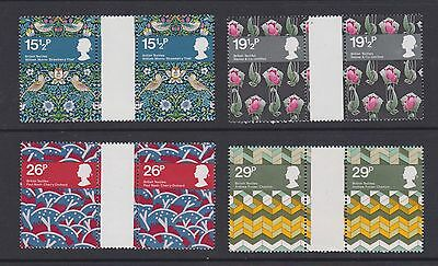 Stamps GB 1982 gutter pairs Textiles