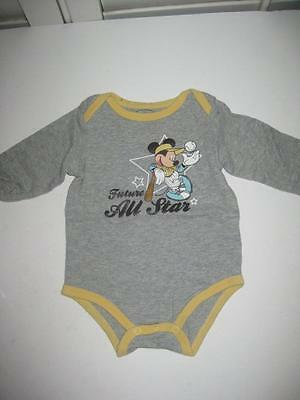 Disney Baby Mickey Mouse Future All Star Boys Long Sleeve Outfit Size 6-9 Months