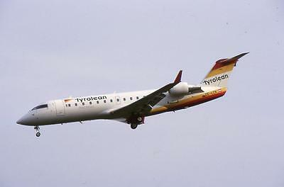Original 35mm Aircraft Slide Tyrolean Canadair CRJ-200LR OE-LCK Brussels 05/98