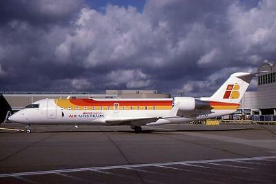 Original 35mm Aircraft Slide Iberia Air Nostrum Canadair CRJ-200ER EC-GYI 10/98