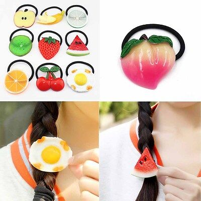 Fashion Hairbands Fruit slices Cute Girl Hair Accessories Elastic Hair Tie Rope