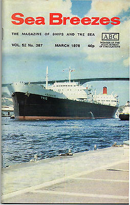 Sea Breezes Mar 1978 North Sea Diving Support Vessel, French Line On The Atlanti
