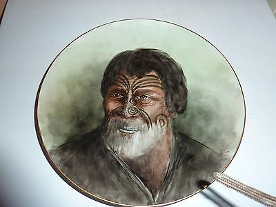 1994 H/p Plate With New Zealand Maori Warrior Chief Awaitaia Image,by G Anderson