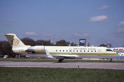 Original 35mm Aircraft Slide Southern Winds Canadair CRJ-200LR LV-WXB 10/97
