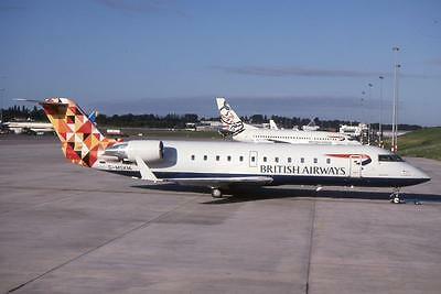 Original 35mm Aircraft Slide British Airways Canadair CRJ-200LR G-MSKM 08/98