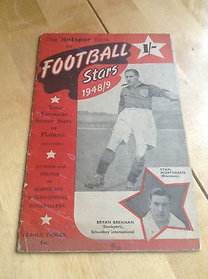 SIGNED Hotspur Book of Football Stars 1948/9 - Rare Manchester United Players
