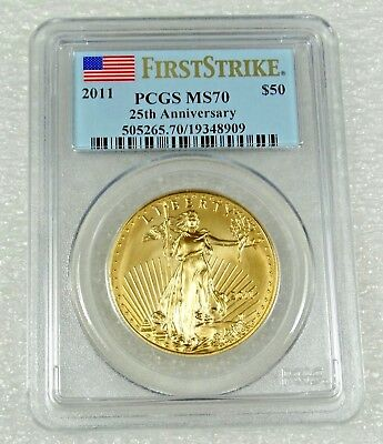 2011 1 oz Gold American Eagle Coin - MS-70 First Strike PCGS