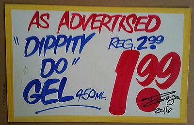 Honest Eds collectible sign DIPPITY DO GEL  Gift for hairdresser, stylist